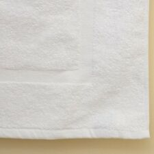 12 NEW WHITE COTTON HOTEL BATH MATS 7#dz 20X30 100% COTTON COMMERCIAL GRADE