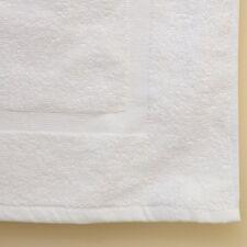 2 NEW WHITE COTTON HOTEL BATH MATS 7#dz 20X30 100% COTTON COMMERCIAL GRADE