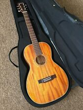 RRP £579 Solid mahogany Parlour Acoustic Guitar in New Fitted Hard Case