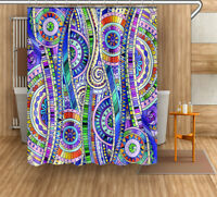 Dinosaur Map Fabric Waterproof Bathroom Shower Curtain Decor with 12 Hooks 1420