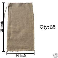 (25) 14x26 Burlap Bags, Burlap Sacks, Sandbags, Gunny Sack, Potato Sacks, Sack