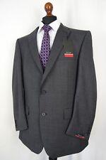 Men's New Pierre Cardin Regular Fit Grey Checked Suit 42R W36 L31 AA447