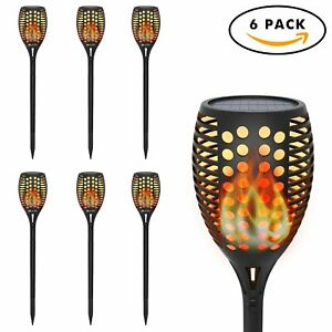 OxyLED Solar Torch Lights Garden Pathway Light with Realistic Dancing Flames ...