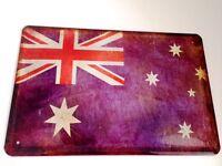 Australia Bandera Bandera Letrero Letrero de Metal Cartel de Lata 20 X 30Cm