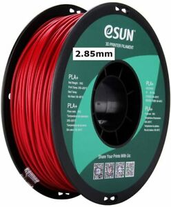 eSUN 3mm FIRE ENGINE RED PLA PRO (PLA+) 3D Printer Filament 1KG Spool, NEW