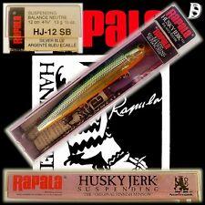 Vintage Rapala Husky Jerk 12cm SB Silver Plated alte Produktion aus Irland NiB