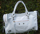 Borsa vera pelle donna Bag leather genuine bianco bags big bianca made in italy
