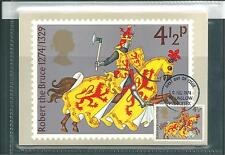 GB - PHQ CARDS -1974 - MEDIEVAL WARRIORS - FRONT - FDI/SHS - COMP. SET USED