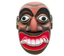 """Stunning Sri Lankan Handmade Wall Hanging Home Decor Tiki Wood Carving Mask 8"""""""