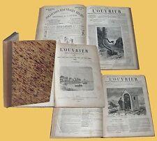 L'Ouvrier journal hebdomadaire illustrè 1881 1882 L' Operaio annata completa