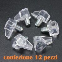 ds Set 12 Pioli Supporti In Plastica Per Mensole Armadio Casa dfh