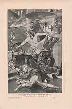 Königin Kleopatra VII. Schlangenbiß Selbstmord DRUCK von 1906