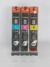 3X Original Canon  CLI8 Multipack