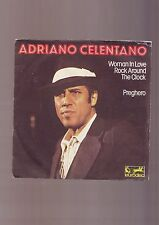 adriano celentano - disque 45 tours -a woman in love - rock around the clock /
