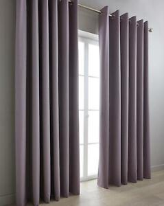 Eclipse Coated Blackout Eyelet Curtains - Heather - 229cm x 183cm - New