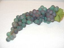 """Home Decor 14"""" Rubber Blue & Purple Grapes Guc"""