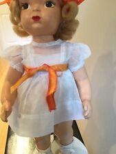 "16"" Terri Lee Patent Pending Painted Plastic Blonde Mannequin Wig LOOPY TAG"