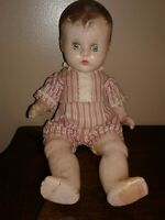 """Vintage '20's Composition Made Baby Doll With Sleepy Eyes 14"""" Long"""