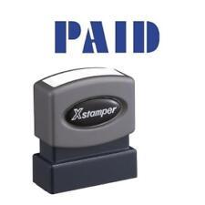 "Xstamper Pre-inked Stamp - Message Stamp - ""paid"" - 0.50"" Impression Width X"