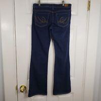EXPRESS X2 Size 4 Slim W10  Low Rise Flare Leg Stretch Denim Jeans Pants Womens
