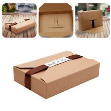 10Pcs Brown Kraft Paper Cookie Packaging Gift Box Envelope Biscuit Storage Bags