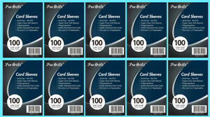 1000 PRO SAFE Trading Card Soft PENNY SLEEVES Poly Sports PVC free Archival