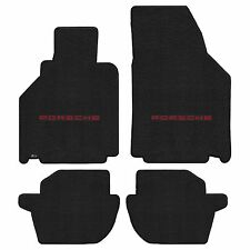 911 996 Carrera 1998-2000 4Pc Car Floor Mats Carpet Black Ultimat Porsche Logo