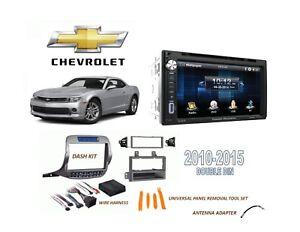 2010-2015 Chevrolet Camaro DOUBLE DIN CAR STEREO KIT BLUETOOTH TOUCHSCREEN USB
