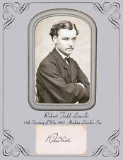 Robert Todd Lincoln, Abraham Lincoln's Son Photo & Autograph 8x11