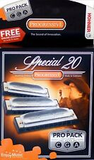HOHNER SPECIAL 20 HARMONICA 3 PIECE PRO PACK KEYS C, G & A