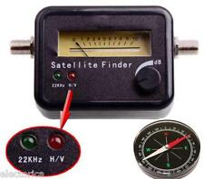 SATELLITE FINDER SIGNAL METER LNB SATELITE+COMPASS+ 22K BELL DISH NETWORK FTA