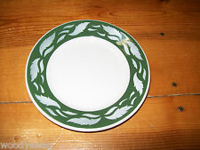 Butter Plate Jackson China Falls Creek Pa Green Leaf Union Made USA 5 1/2 inch