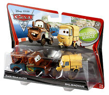 Disney**Pixar CARS 2_RACE TEAM MATER_SAL MACHIANI Die-Casts_Exclusive 2 Pack_MIP