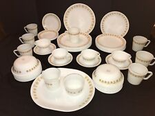 60 Pc Corelle Butterfly Gold - Platter, Plates, Cream, Sugar, Bowls,Cups, Saucer