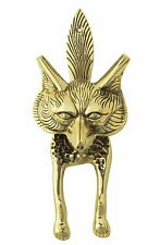 Solid Brass Fox Door Knocker – antique vintage country animal knockers (24cm)