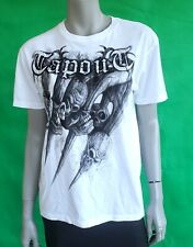 New TapOut Women's Graphic White T-Shirt Skull Large