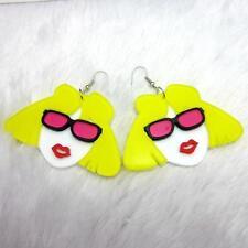 LASER CUT ACRYLIC EARRINGS - GIRL WITH SUNGLASSES - FREE UK P&P.......CG0901