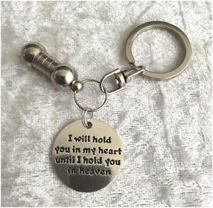 Cremation Jewellery Ashes Urn Keyring w I Will Hold... Funeral Keepsake Memorial