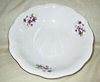 Vintage Violets Porcelain Serving Bowl Cluj Romania  10 Inches
