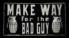Make Way for The Bad Guy Enamel Metal Belt Buckle