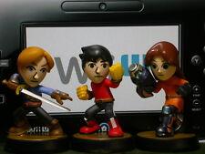 Nintendo Amiibo - Mii Fighters Lot of 3 - Super Smash Bros Series