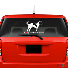 I Love My Jack Russel Terrier Windshield Sticker profile jrt parson v2