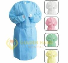 Disposable Dental Isolation Gown Protective Sms Material Blue Color 50pcs