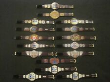 16 Custom Wrestling Figure Belts WCW NWA WWE WWF NXT(Action figure not included)