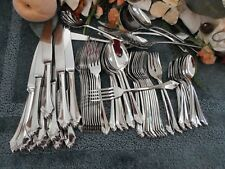 Oneida 18/8 USA Vintage Community Stainless KENWOOD 62pc Set Service Excellent