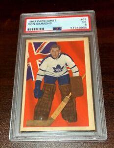 1963 - 64 Parkhurst #62 Don Simmons  Toronto Maple Leafs  PSA 5