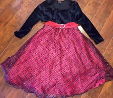 GIRLS Amy BYER DRESS SIZE 8 Black & Red BEAUTIFUL Fancy Party Holiday