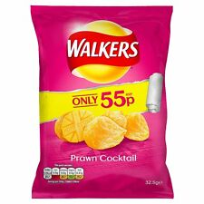 WALKERS PRAWN COCKTAIL CRISPS FULL CASE X32 BAGS FREE DELIVERY!