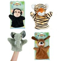 Hand Puppets Set Of 4 Animal Dog Tiger Monkey Elephant Soft Puppet Childrens Toy