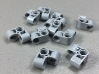 New LEGO Technic Pin Connector Perpendicular 2x2 Bent (x10) 44809 Light B. Gray